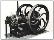 The first suction gas engine manufactured by Daihatsu.