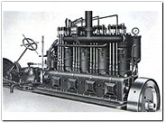 Marine Diesel engine with 60PS output.